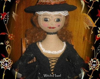 Antique Halloween Witch Doll PDF Pattern
