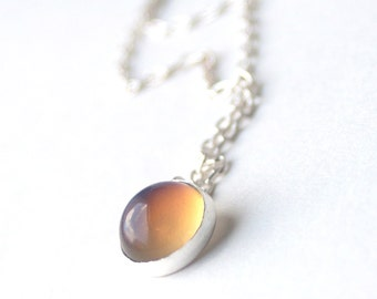 Mood Necklace, Color Changing - Sterling Silver