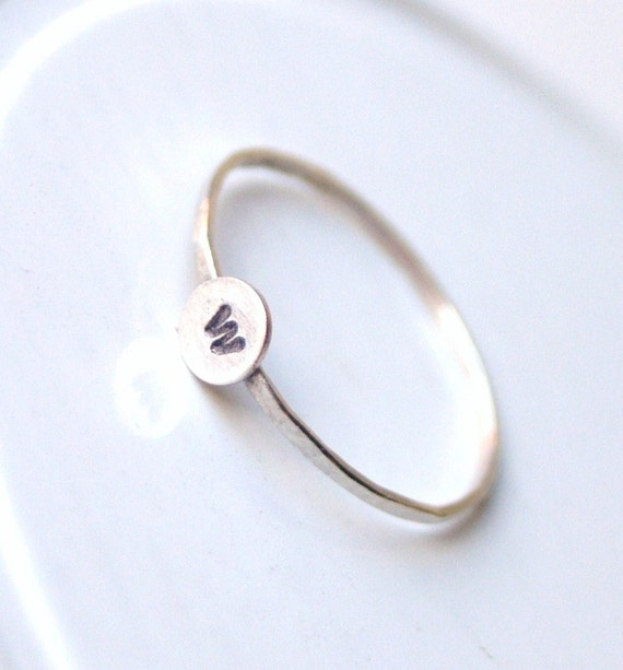 Sterling Silver Personalized Initial Ring