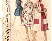 Simplicity 5300 Vintage 60s tent dress and scarf
