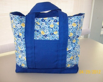 Blue & Yellow Tote Bag - SALE
