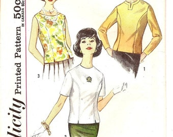 60's blouse pattern Simplicity 4523 size 12