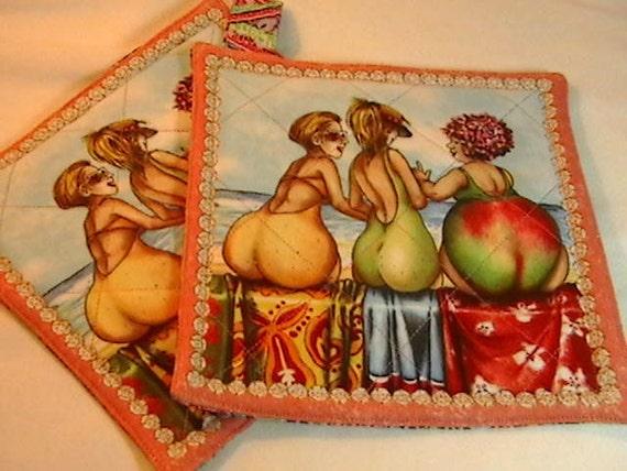 Pear Ladies Hot Pads/Pot Holders