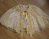1960s Apricot Vanity Fair Bed Jacket