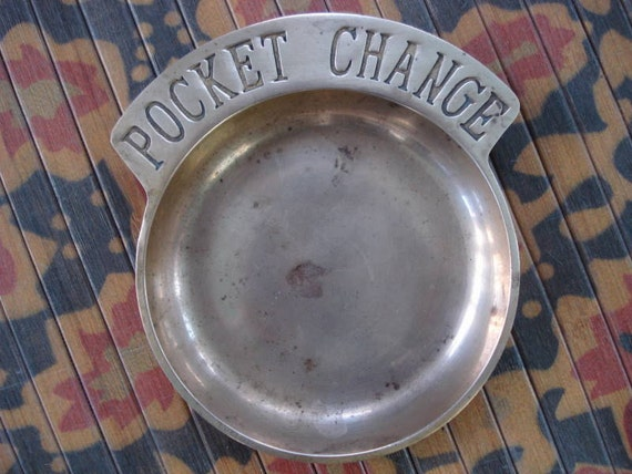 Vintage 1950s Pocket Change Brass Dish Tray 2012130