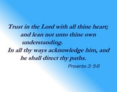 a1-  Trust in the Lord with all thine heart