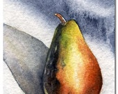 Sunlight Pear, Original ACEO Watercolor