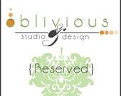 Reserved Listing...Custom CD Label Design