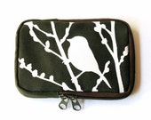 SALE Army Green Bird on Cherry Blossom Case