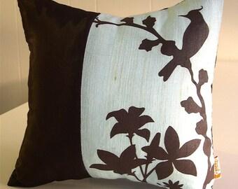 Light Blue Cardinal Throw-Mini 10.5 Inches Square Pillow