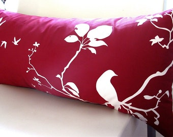 Red Flying By Rectangle Pillow
