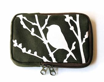 SALE Army Green Bird on Cherry Blossom Case