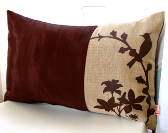 Limited Time Sale Brown Cardinal Throw Pillow