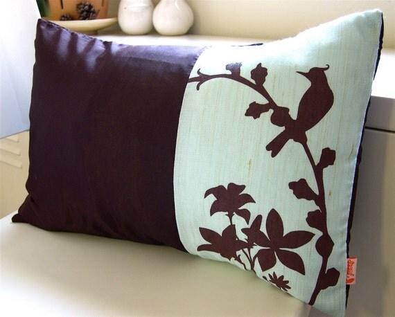 Aqua Blue Cardinal Throw Pillow