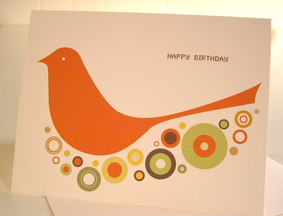 Birdie Birthday Card -Set of 3