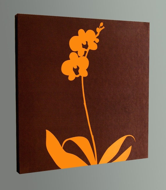 Brown Orchid Wall Art