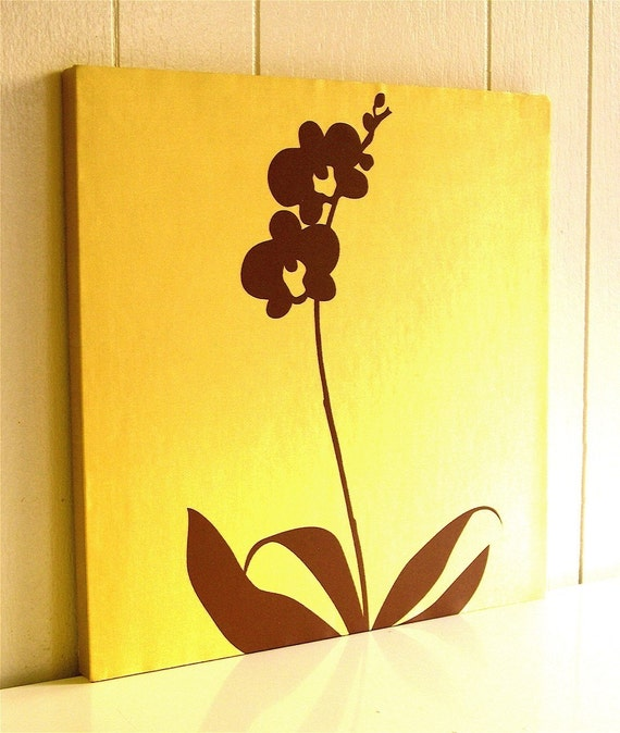 Yellow Orchid Wall Art