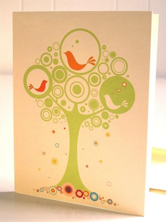 Magic Tweetie Tree Cards-Set of 3