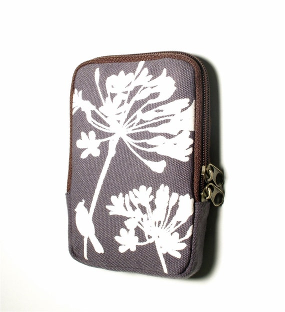 SALE Slate Grey Cardinal on Agapanthus Case