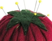 Emery Pincushion - Felt  Red Tomato