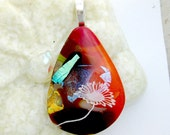 Dancing Fused Glass Flower Pendant