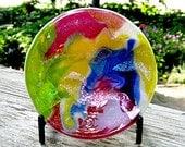 Fused Dichroic Glass Small Trinket Bowl