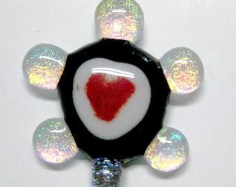 Turtle Pendant - Fused Dichroic Glass Pendant