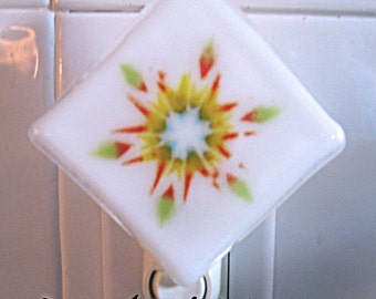 Burst of Color Fused glass Night Light