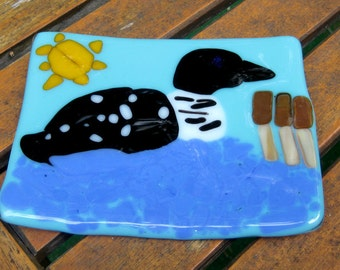 A Bit Looney Fused Glass Small Dish - Jewelry Holder