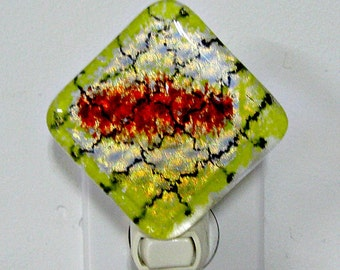 Fused Glass Dichroic Night Light