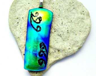 Dichroic Fused Glass Pendant - Fused Dichroic Glass Pendant