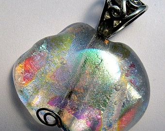Colorful Ice Dichroic Fused Dichroic Glass Pendant
