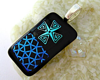 Lovely Fused Dichroic Glass Pendant
