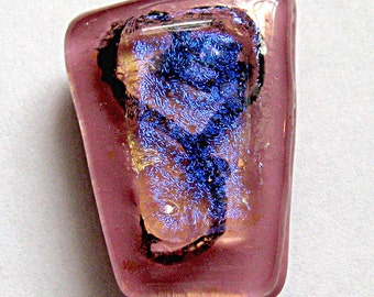 Heart Fused Dichroic Glass Magnet