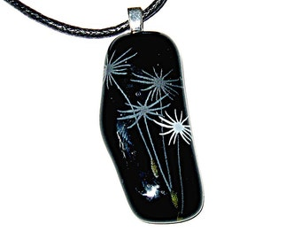 Blowing In The Wind Fused Glass Pendant