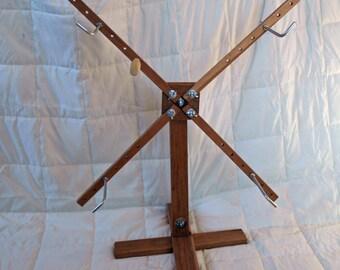 Solid Cherry Yarn Swift/Winder - Freestanding, vertical
