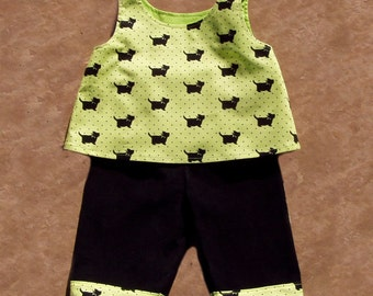 Scotties and Polka Dot 2 pc set, Size 12 months