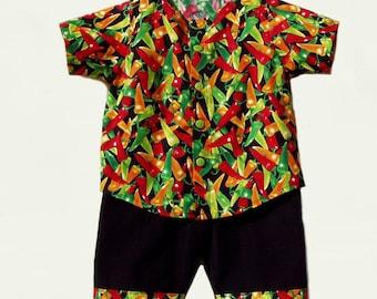 Hot Stuff Shirt and Pants Set, size 6 months