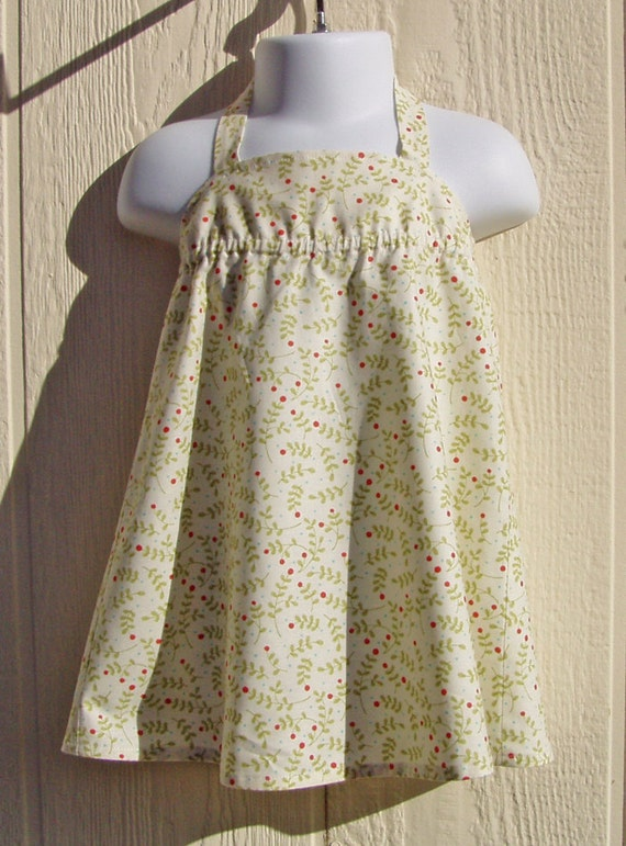 Ditsy Print Halter Dress, Size 6 Months
