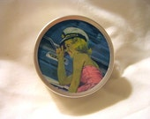 Vintage Corvair Girl Trinket Box