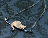 Cheshire Cat - Sterling Necklace-Alice in Wonderland