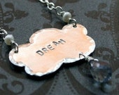 Sterling Silver Dream Cloud Silhouette with Topaz Briolette Raindrop