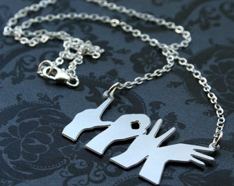 Love Hands Silhouette Necklace
