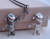 Reserved for Michele - Monkey Time pendant/charm #2 of 2 payments