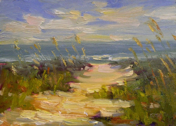 Florida Beach Sanibel Island 5x7 Original Oil Painting Karen Margulis