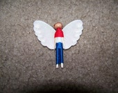 RESERVED Soldier Angel worry doll RESERVED