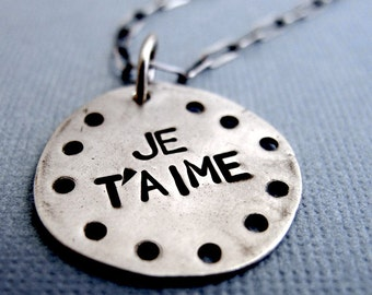 Je t'aime Necklace - Sterling Silver