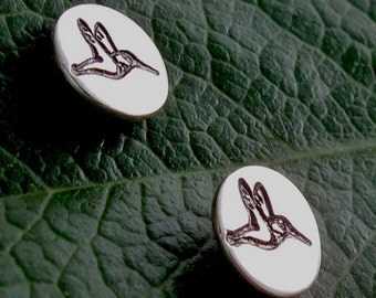 Hummingbird Studs - Sterling Silver
