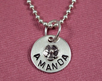 Flower Girl Name Necklace