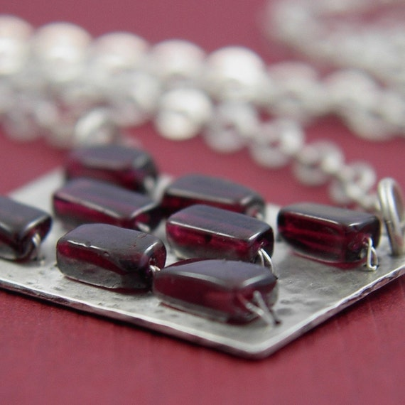 Garnet Brick Wall Necklace